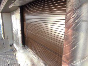 名張市 雨戸塗装完成2