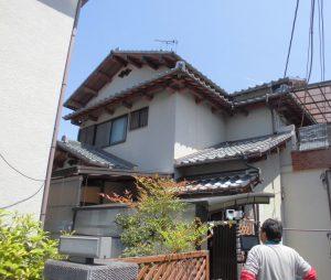奈良県橿原市 雨漏り修理で屋根の棟瓦の積み替え工事