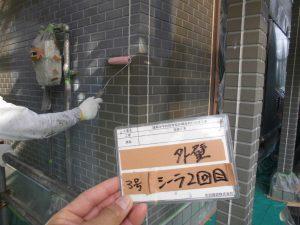 奈良県橿原市 外壁下塗り塗装2回目