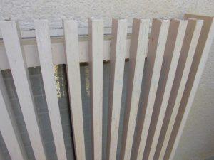 木部を外壁の塗料で塗装