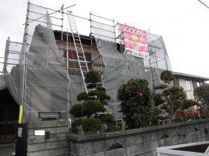 【屋根修理,瓦修理,雨漏り修理】奈良県宇陀市M様邸 棟瓦の積みなおしと漆喰(しっくい)工事
