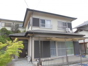 奈良県宇陀市 セメント屋根瓦の点検とリフォーム見積もり
