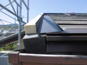 奈良県宇陀市 屋根の捨て水切2
