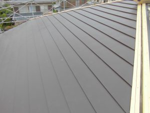 奈良県宇陀市 ガルバリウム鋼板を屋根カバー工法1