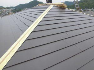 奈良県宇陀市 ガルバリウム鋼板を屋根カバー工法2