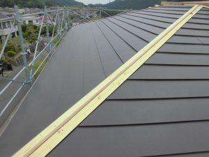 奈良県宇陀市 ガルバリウム鋼板を屋根カバー工法3