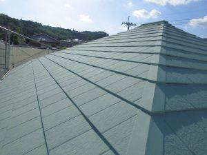 名張市 屋根にガイナ塗装5