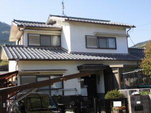 奈良県宇陀市 築26年で無塗装のモルタル外壁の調査