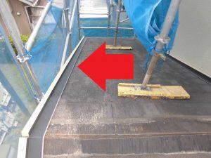 奈良県宇陀市H様 屋根工事 水切り設置2