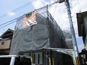 【屋根塗装,屋根修理,雨漏り修理】奈良県橿原市K様邸 屋根塗り替え工事が始まりました。