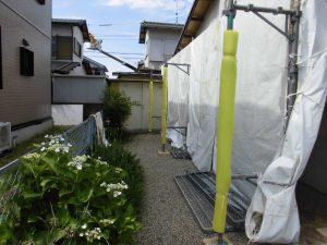 【外壁修理,外壁塗装】奈良県桜井市I様邸 浮いている(膨れている)外壁をめくり、セメントで仕上げる