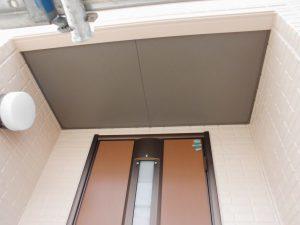 奈良県宇陀市S様 玄関軒裏天井塗装