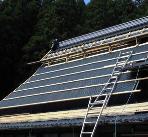 【屋根重ね葺き,屋根工事】奈良県宇陀市S様  屋根の下地造作
