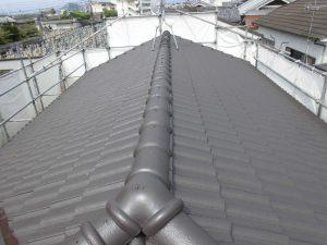 奈良県桜井市S様 屋根塗装 上塗り(3回目)塗装2