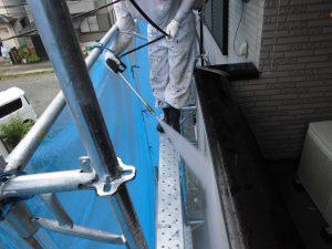 奈良県橿原市 サイディング壁高圧洗浄
