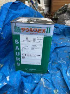 三重県名張市 シャッターボックス塗装 材料1
