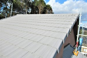 奈良県磯城郡田原本町 20年の塗料で屋根塗装リフォーム