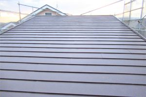大和郡山市 火災保険で保証25年の屋根リフォーム