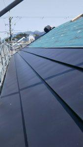 【奈良県橿原市】屋根工事|屋根にガルバリウム鋼板を重ねるカバー工法工事