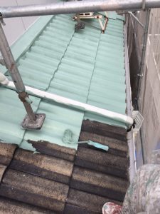 奈良県生駒市I様の屋根洋瓦塗装リフォーム工事