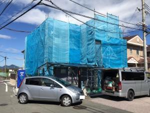 奈良県橿原市 15年長持ち水性シリコン塗料を外壁に塗装