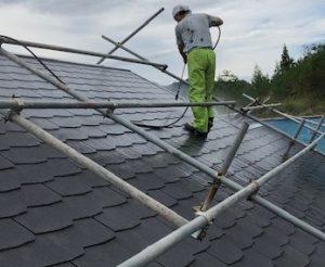 【三重県名張市】屋根塗装|塗装前に汚れたスレート屋根を丁寧に高圧洗浄して長持ちさせる