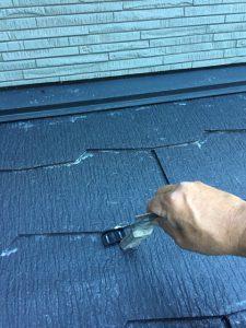 【三重県名張市】屋根塗装|スレート屋根には雨漏り防止に縁切り部材のタスペーサーを設置