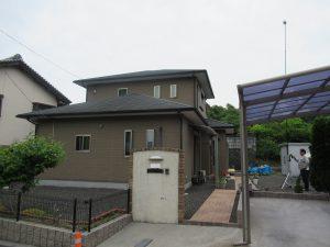名張市 一戸建てのスレート屋根と外壁の点検と見積もり