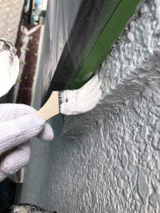 【外壁塗装,外壁塗り替え】奈良県橿原市T様邸 外壁塗装の工程に入ります。(下塗り塗装)