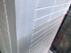 塗装2回め:中塗り(クリーンマイルドシリコン) 外壁塗装 奈良県宇陀市