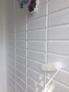 塗装3回め:上塗り 外壁塗装 奈良県宇陀市
