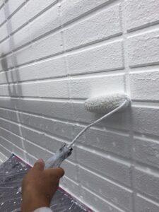 塗装3回め:上塗り(シリコン塗料) 外壁塗装 奈良県宇陀市
