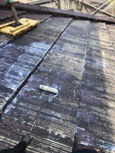 奈良県宇陀市 屋根瓦塗装で失敗しないコツは下塗り塗装