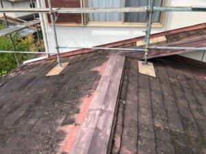 【三重県名張市】屋根リフォーム|今のスレート屋根の上に防水シートを張って雨漏り防止