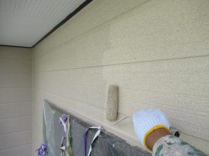 名張市 かびや汚れに強いシリコン塗料で外壁を塗り替え