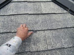 名張市 屋根塗り替え前に雨漏り防止にタスペーサーを設置