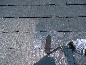 名張市 汚れに強いシリコン塗料でスレート屋根を塗り替え