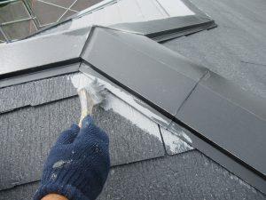 名張市 スレート屋根に耐用年数20年のガイナで塗り替え