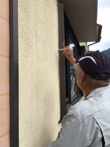 奈良県宇陀市T様 シーリング(コーキング)充填前のプライマー塗布