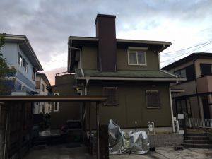 名張市 築27年の煙突とスレート屋根から雨漏り現場調査