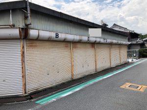 奈良県橿原市 駐車場のシャッターの塗装前の下地処理