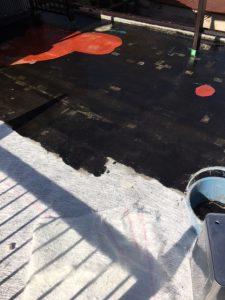 奈良県橿原市FRP防水工事 主剤中塗り