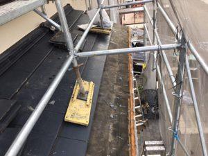 橿原市 セメント瓦(エアルーフ)の雨漏り修理工事