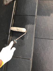 奈良県橿原市K様 屋根塗装 下塗り塗装2