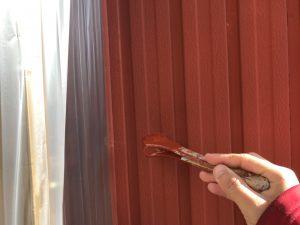 名張市 トタン壁に錆び止め塗装3
