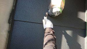 三重県名張市Y様 外壁塗装 中塗り塗装2