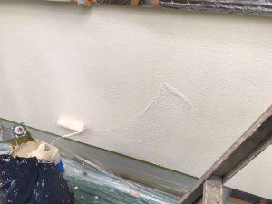 奈良県宇陀市 モルタル外壁に断熱セラミックガイナを上塗り2