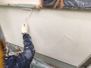 奈良県宇陀市 モルタル外壁に断熱セラミックガイナを上塗り1