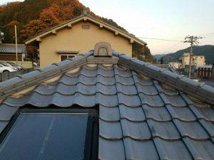 奈良県吉野郡K様 屋根修理 棟瓦の交換完成1