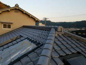 奈良県吉野郡K様 屋根修理 棟瓦の交換完成5